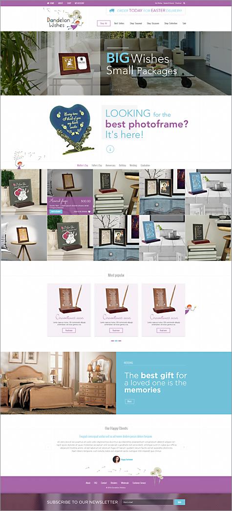 Dandelion Wishes Full Ecommerce Design