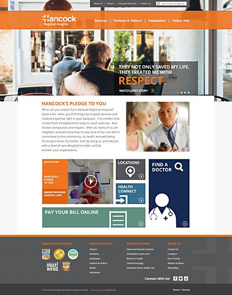 Hancock Homepage Redesign