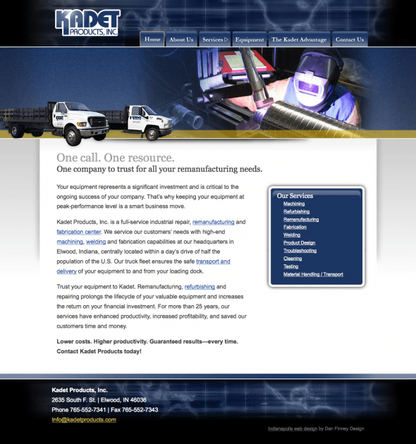 Kadet Product Website Design