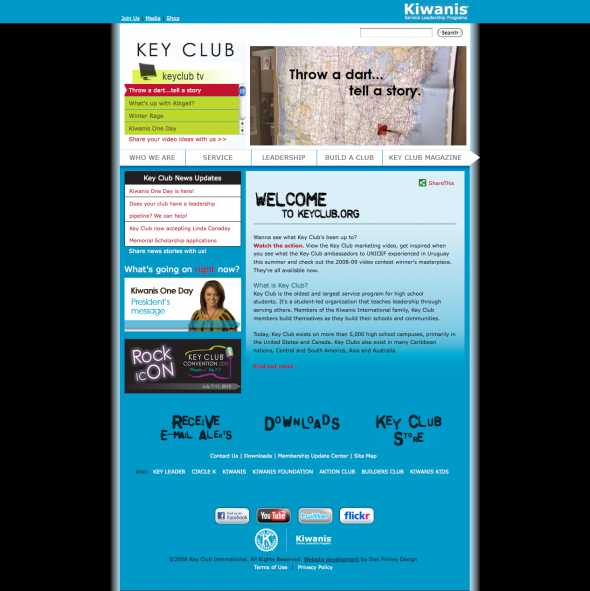 Key Club Website Development
