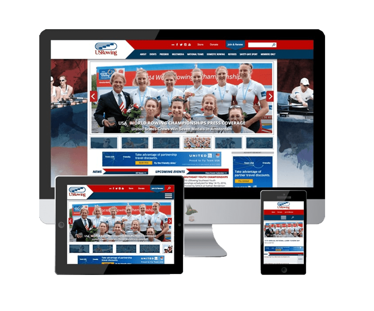 USRowing Sitefinity Design