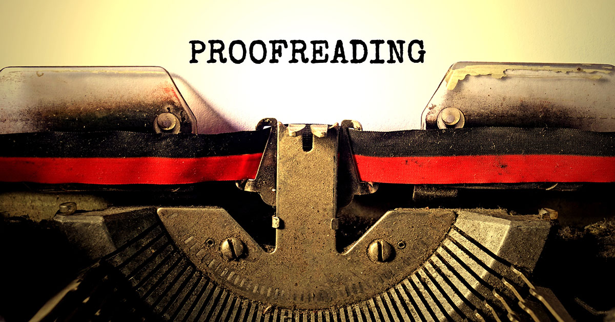 "Typewriter with the word ""Proofread"""