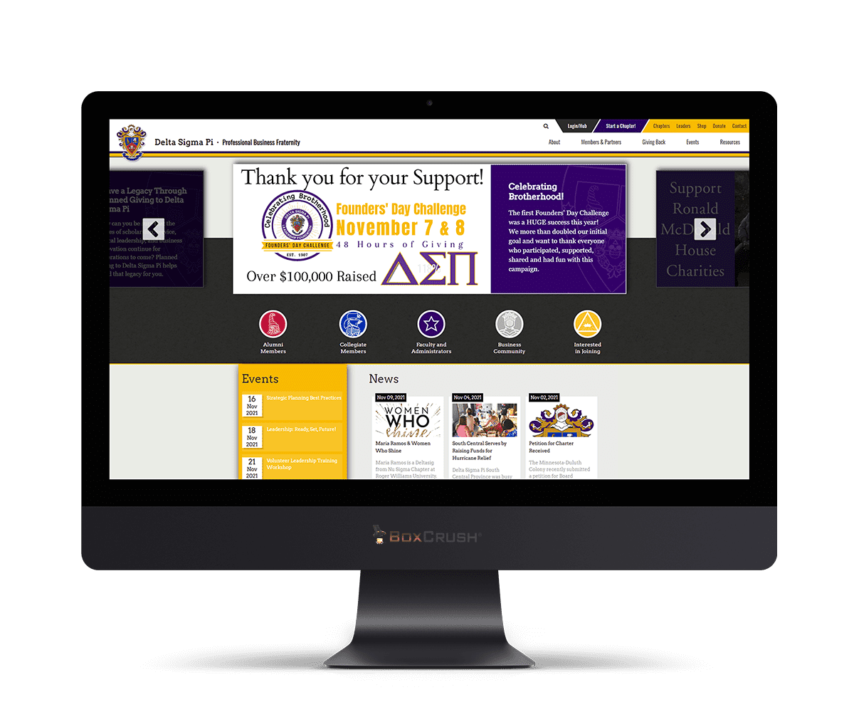 Delta Sigma Pi Website Design & Development