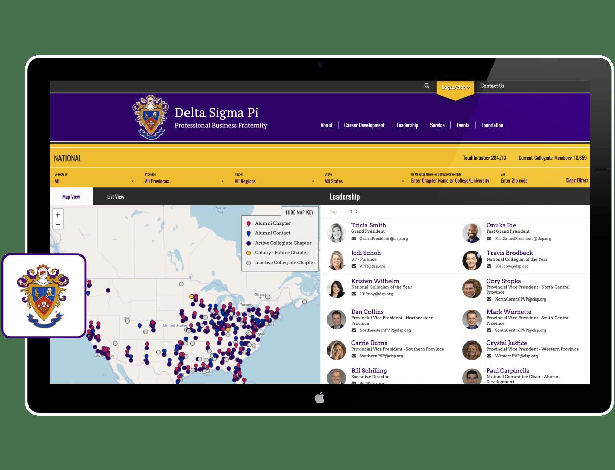 Delta Sigma Pi Locator