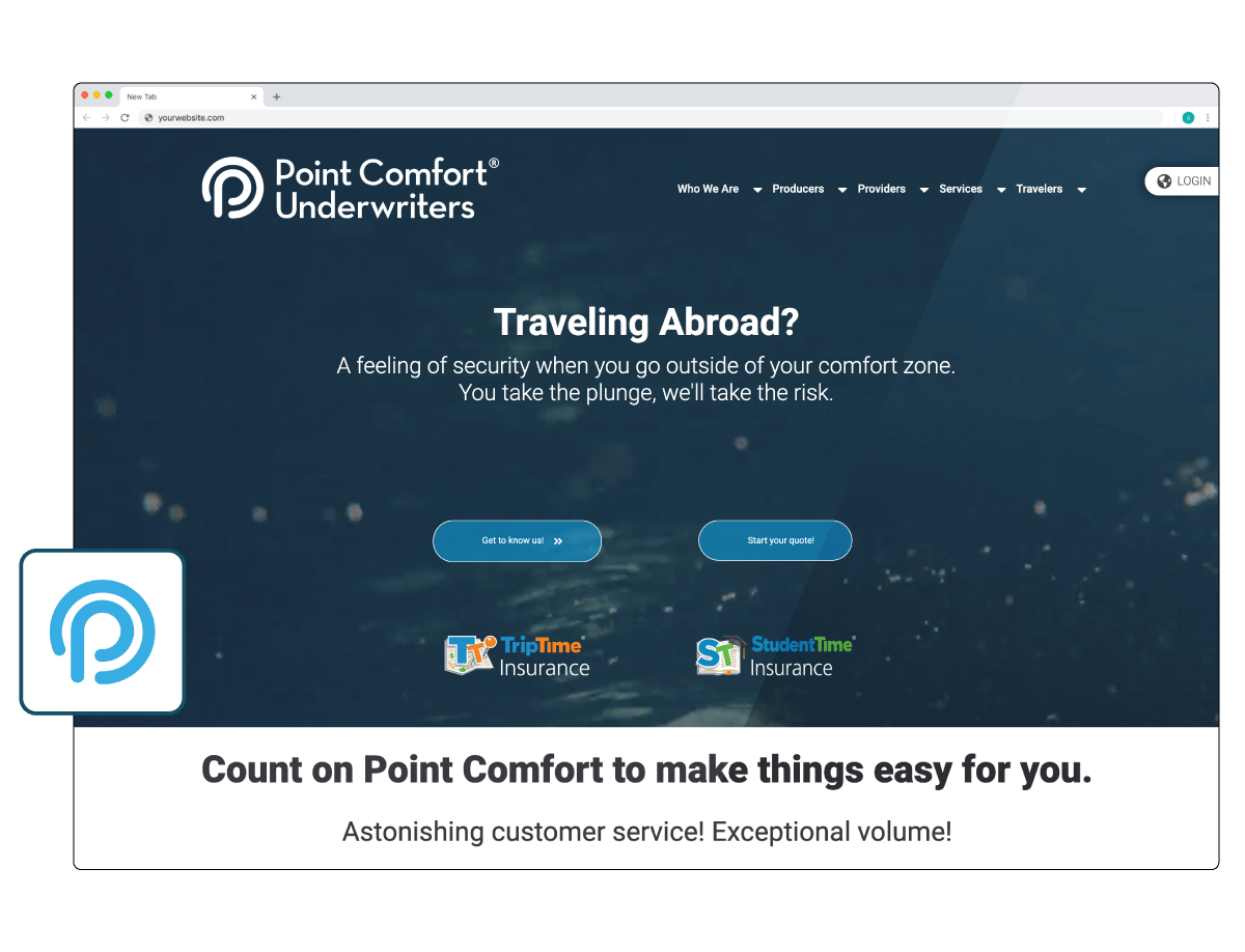 Point Comfort Underwriters Website Design & Development