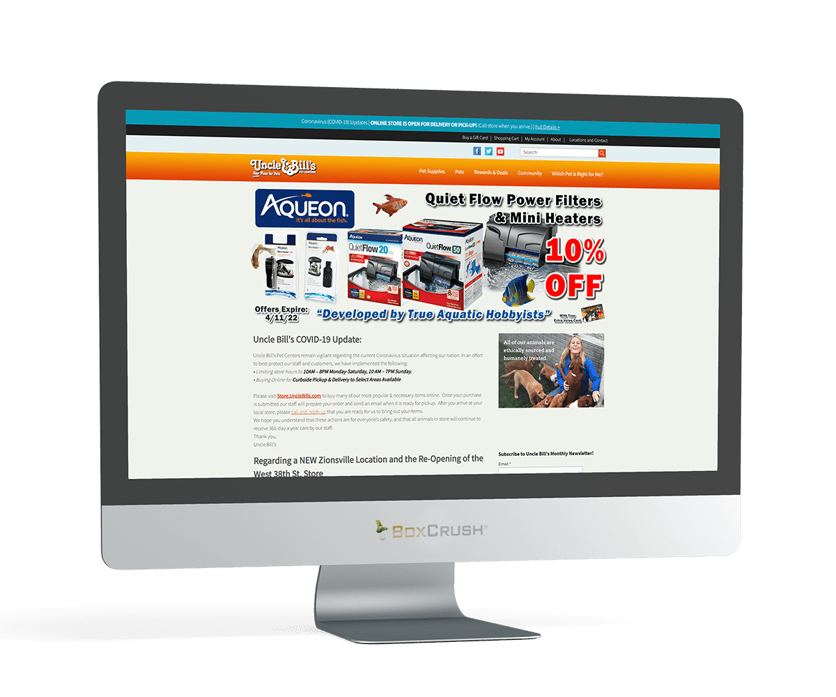 Uncle Bill's Pet Centers eCommerce