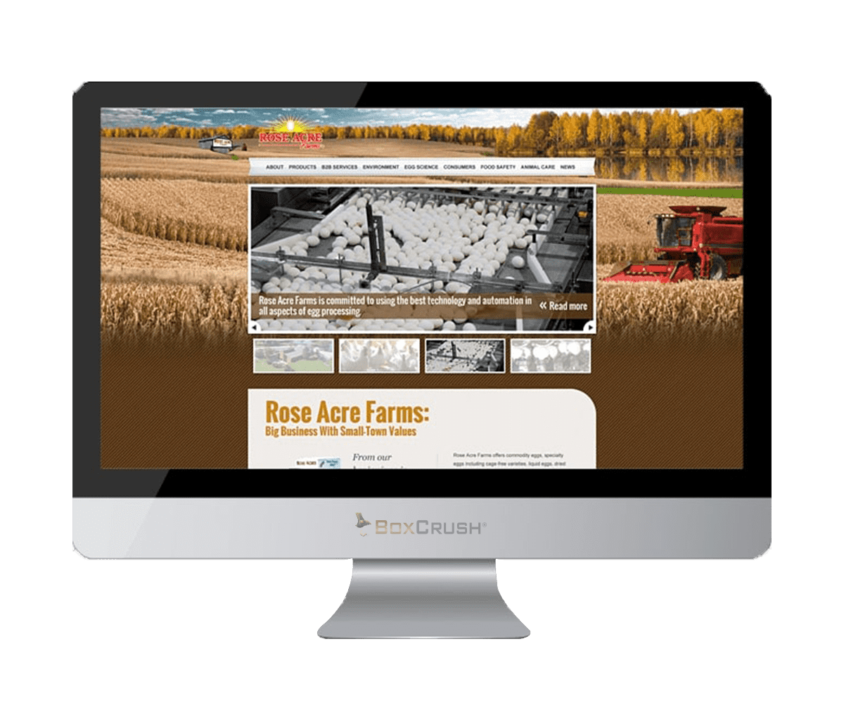Rose Acre Website Design