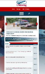 US Rowing custom web design by BoxCrush