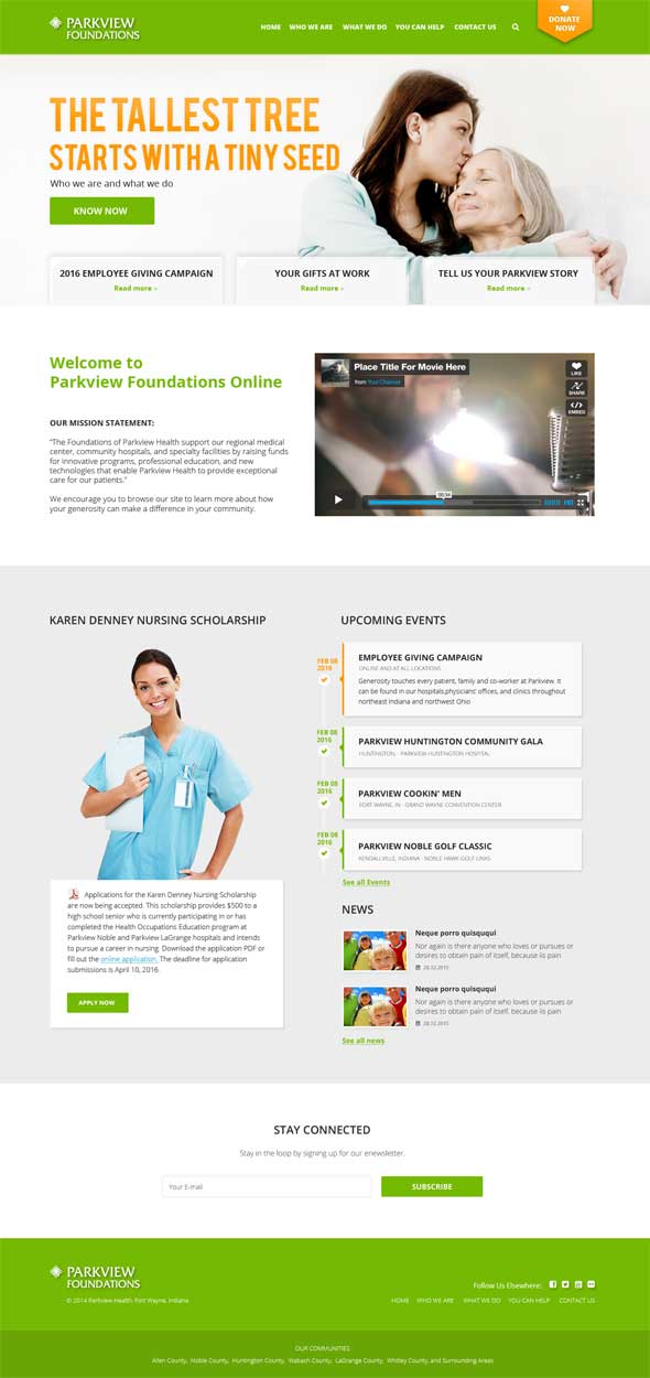 Parkview Health Website Design